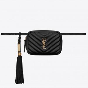 Saint Laurent Lou Belt Bag In Black Calfskin