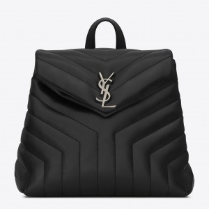 Saint Laurent Black Small LouLou Backpack
