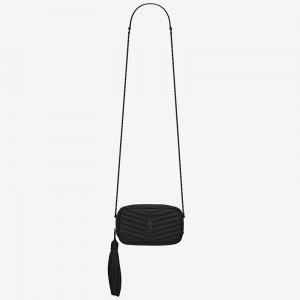 Saint Laurent Lou Mini All Black Bag
