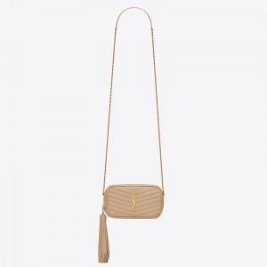 Saint Laurent Lou Mini Bag In Powder Grained Leather
