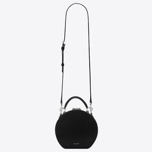 Saint Laurent Black Mica Hot Box Bag