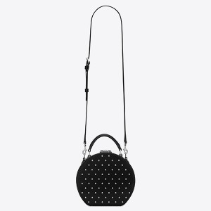 Saint Laurent Black Mica Hot Box Studs Bag