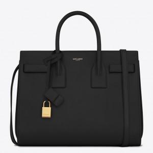 Saint Laurent Small Sac De Jour Bag In Black Leather