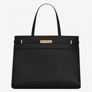Saint Laurent Black Manhattan Medium Shopping Bag