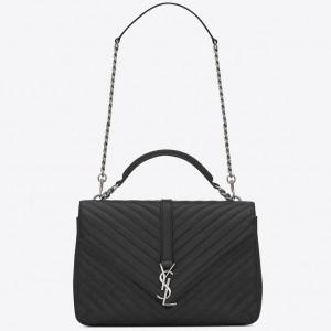 Saint Laurent Large Black College Shoulder Bag