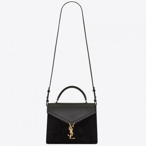 Saint Laurent Cassandra Medium Bag In Black Suede