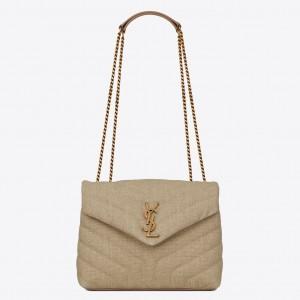 Saint Laurent Loulou Small Bag In Linen Canvas