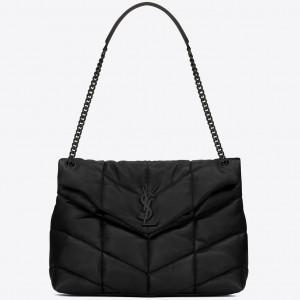 Saint Laurent So Black Loulou Puffer Medium Bag