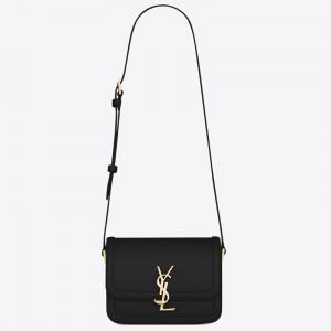 Saint Laurent Solferino Small Bag In Black Calfskin