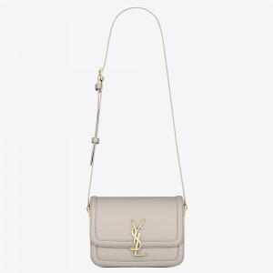 Saint Laurent Solferino Small Bag In White Calfskin