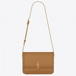 Saint Laurent Solferino Medium Bag In Brown Box Calfskin
