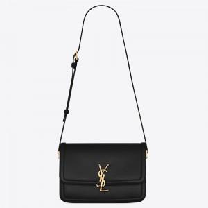 Saint Laurent Solferino Medium Bag In Black Calfskin