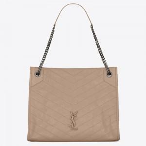 Saint Laurent Medium Niki Shopping Bag In Sand Leather