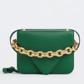 Bottega Veneta Mount Small Bag In Green Leather