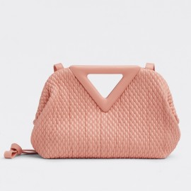 Bottega Veneta Small Point Bag In Peachy Quilted Leather
