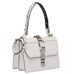 Prada Elektra Shoulder Bag In White Calfskin