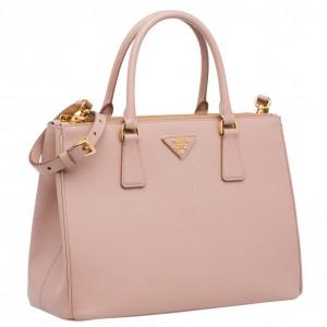 Prada Galleria Medium Bag In Pink Saffiano Leather