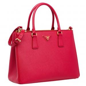 Prada Galleria Medium Bag In Red Saffiano Leather