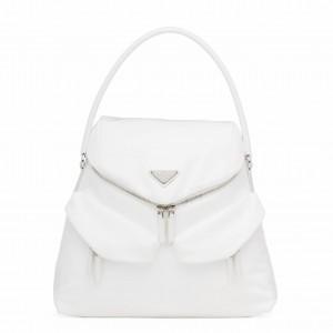 Prada Signaux Hobo In Bag In White Nylon