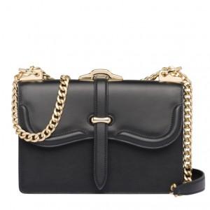 Prada Belle Shoulder Bag In Black Calfskin