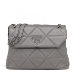 Prada Large Spectrum Bag In Grey Nappa Leather