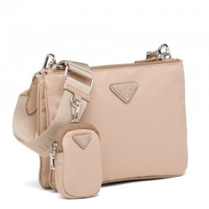 Prada Beige Nylon Re-Edition 2000 Shoulder Bag