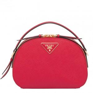 Prada Odette Red Saffiano Leather Bag