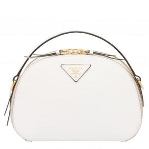 Prada Odette White Saffiano Leather Bag