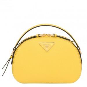 Prada Odette Yellow Saffiano Leather Bag
