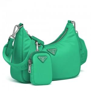 Prada Green Nylon Re-Edition 2005 Shoulder Bag