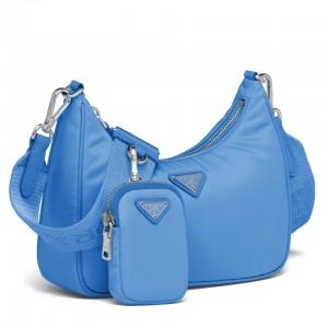Prada Periwinkle Blue Nylon Re-Edition 2005 Shoulder Bag