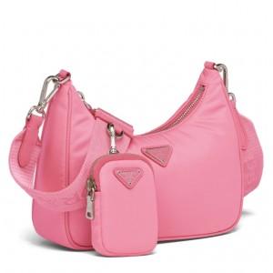 Prada Re-Edition 2005 Shoulder Bag In Pink Nylon