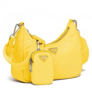 Prada Yellow Nylon Re-Edition 2005 Shoulder Bag