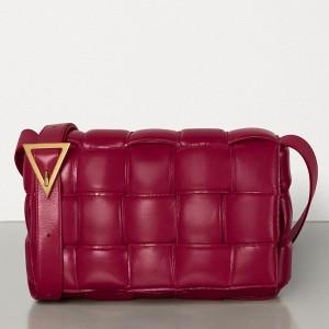Bottega Veneta Padded Cassette Bag In Amaranto Calfskin