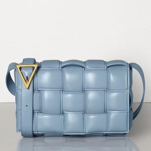 Bottega Veneta Padded Cassette Bag In Ice Calfskin