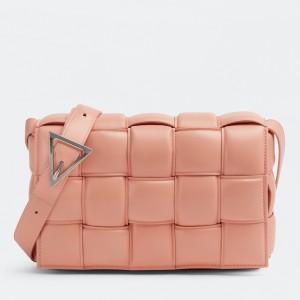 Bottega Veneta Padded Cassette Bag In Peachy Calfskin