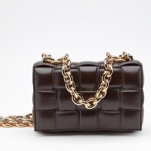 Bottega Veneta Chain Cassette Bag In Black Calfskin