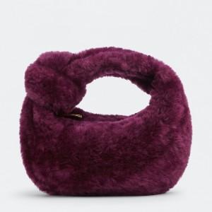 Bottega Veneta Mini BV Jodie Bag In Mystic Shearling