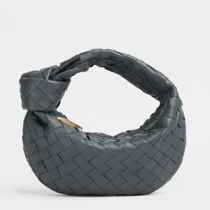 Bottega Veneta Mini BV Jodie Bag In Thunder Woven Leather