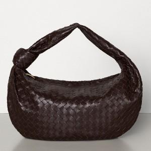 Bottega Veneta Large BV Jodie Bag In Fondente Woven Leather