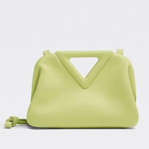 Bottega Veneta Small Point Top Handle Bag In Seagrass Leather