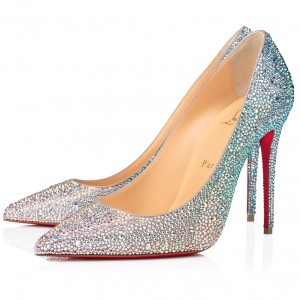 Christian Louboutin Nude Kate Strass Degrade Pumps 100mm