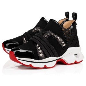 Christian Louboutin Women's Black 123 Run Sneakers