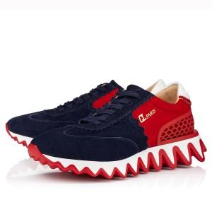 Christian Louboutin Women's Blue/Red Loubishark Sneakers