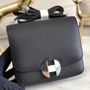 Hermes 2002 20cm Bag In Black Evercolor Calfskin