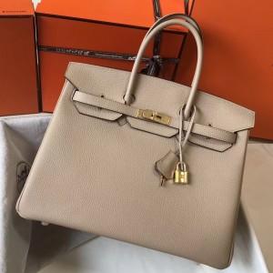 Hermes Argile Clemence Birkin 35cm Bag