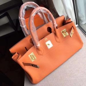 Hermes Orange JPG Birkin 42cm Shoulder Bag