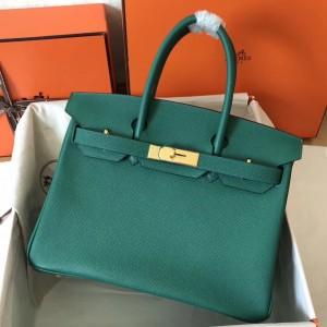 Hermes Malachite Birkin 30cm Epsom Handmade Bag