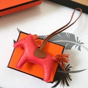 Hermes Rodeo Horse Bag Charm In Piment/Camarel/Orange Leather