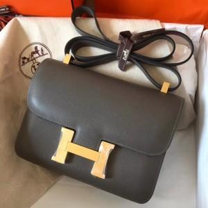 Hermes Epsom Constance 24cm Ardoise Handmade Bag